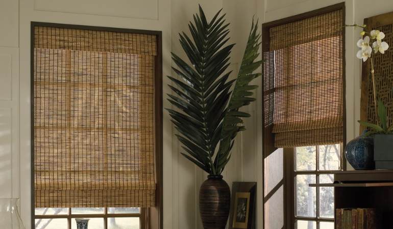 Camel woven shades in Honolulu