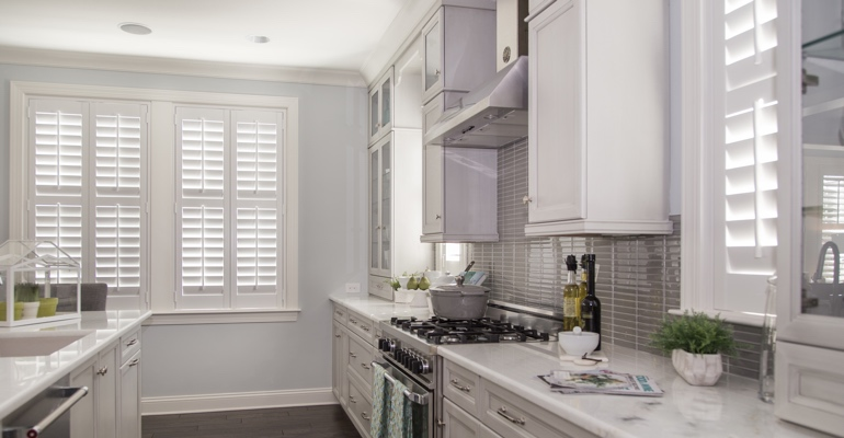 Honolulu kitchen white shutters