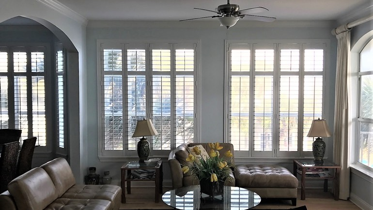 Honolulu great room shutters