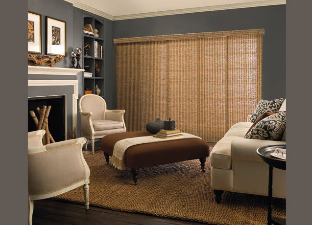 Honolulu living room panel track blinds