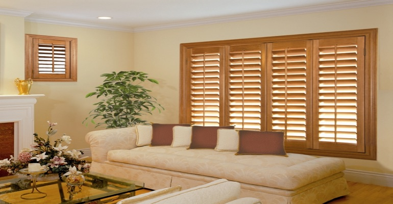 wood shutters Honolulu sunroom