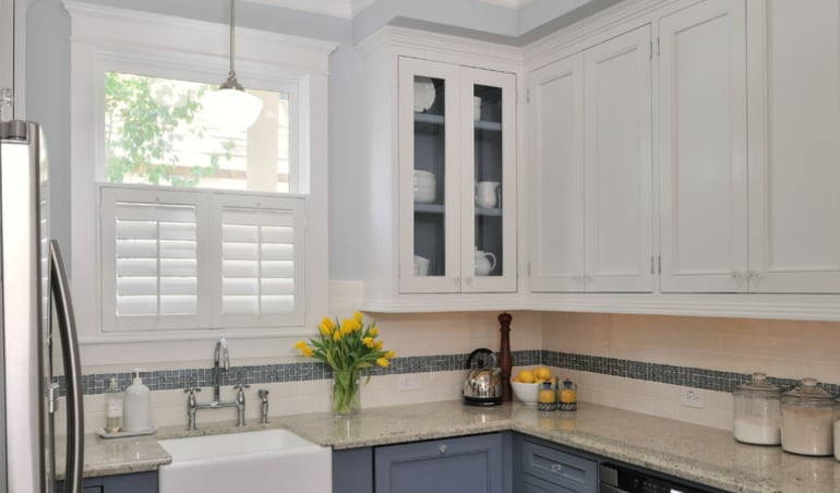 Polywood shutters in a Honolulu kitchen.