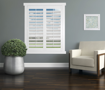 Polywood Shutters in Honolulu living room