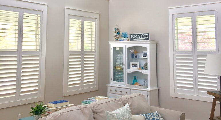 white shutters in Honolulu living room