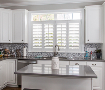 Shutters in Honolulu kitchen