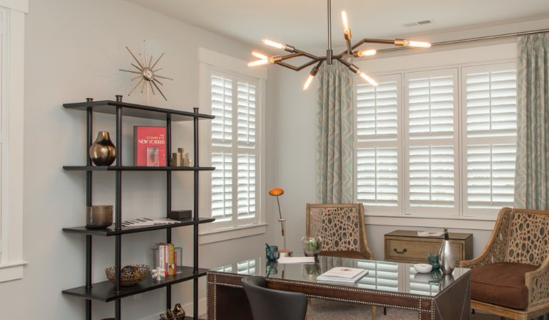 Polywood shutters in an modern office