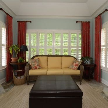 Honolulu sunroom window shutters.