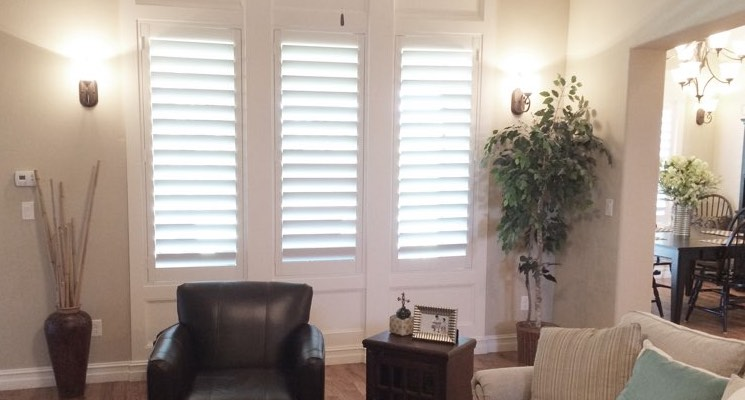 Honolulu family room white shutters