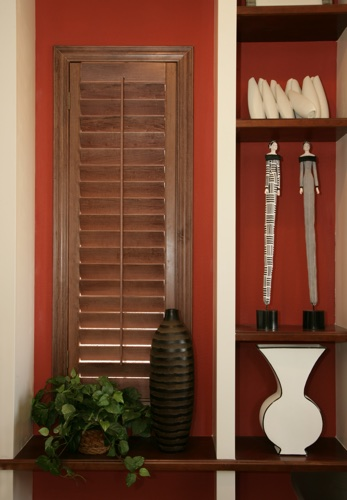 Honolulu wood shutter shelving