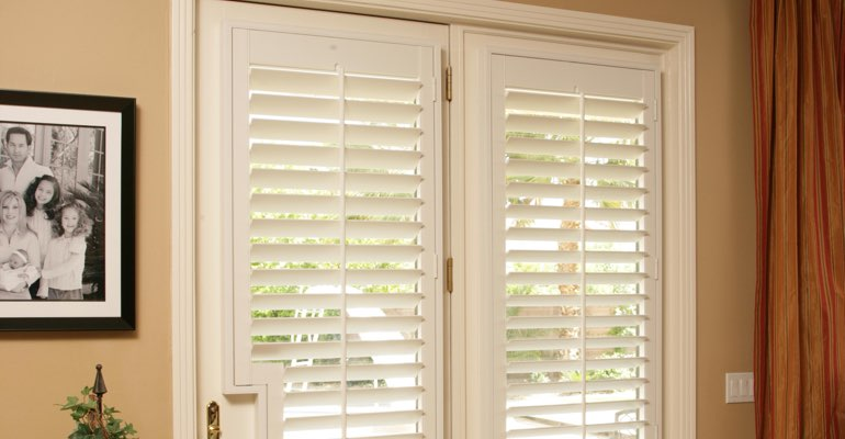 Honolulu french door plantation shutters