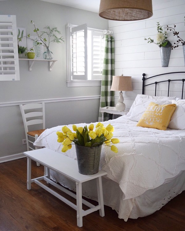 Honolulu cottage bedroom shutters