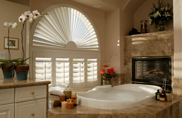 Our Professionals Installed Shutters On A Sunburst Arch Window In Honolulu, HI