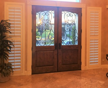 Honolulu sidelight window treatment shutter