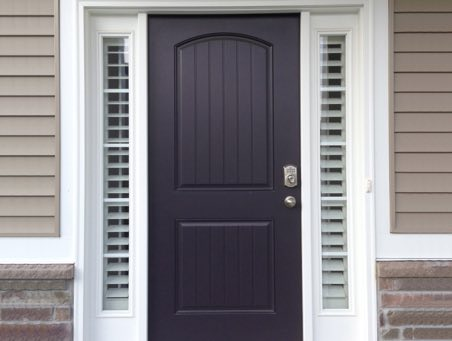 Honolulu front door shutters